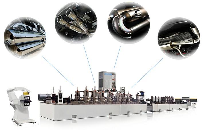 汽车排气管制管机